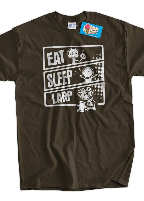 Funny Larping T-Shirt Larp T-Shirt Live Action Role Playing T-Shirt Screen Printed T-Shirt Tee Shirt T Shirt Mens Ladies Womens