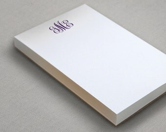 Monogram Personalized Notepad - To Do List - 100 sheets - Choose Your Ink  Color