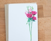 Roses Personalized Cards, Flower Stationary Set, Eco Friendly Gift under 20