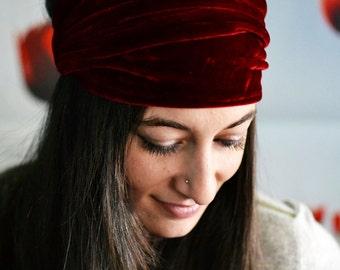 Headbands, Wide Headband, Turban Headband, Red Headband, Workout Headband, Womens Headband, Yoga Headband, Boho Headband, Bohemian Headband