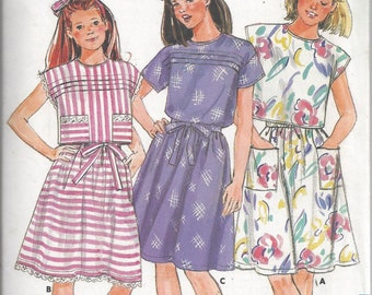 Butterick 3715 Pattern for Girls' Top & Skirt, Size 7, From 1986, FAST and EASY