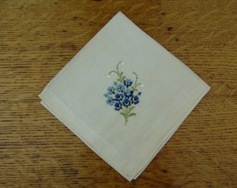 NOS Swiss Violets Vintage hanky Mothers Day Gift
