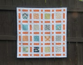 Digital pdf Quilt Pattern - Broken Frames - Baby Quit - Lap Quilt - Twin Quilt - Layer Cake and Charm Pack friendly -Easy Quilt Pattern