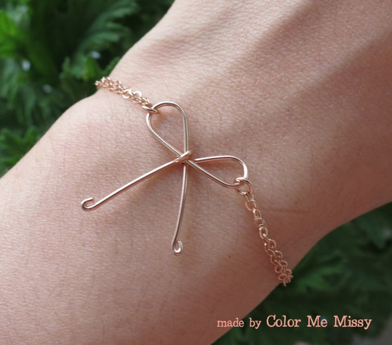 Tie The Knot Rose Gold Filled Bracelet Hand Wired Knot