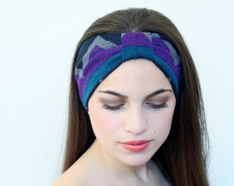 Very Cute Turbans Headband with Zig Zag  print  great accessory for your outfit