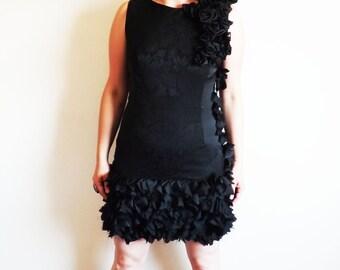 black short dress, little black dress, evening dress, one of a kind, party dress, sleeveless dress, short black prom dress, fitted dress