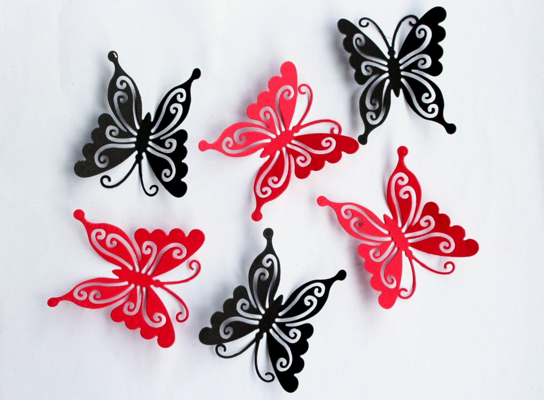Etsy Butterfly Wall Decor : D butterfly wall art kids room decor nursery