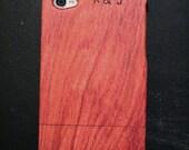 Wooden iPhone 5/5s Case Custom Initials
