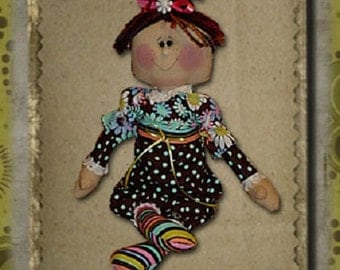 "Pattern: Chloe - 16"" Retro Raggedy Doll"