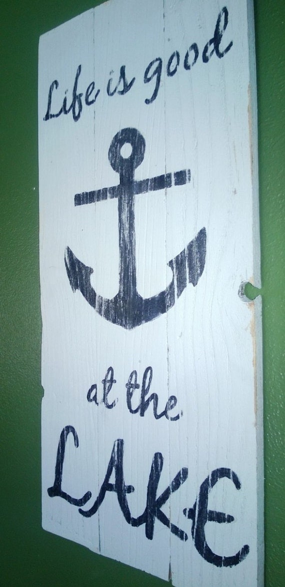 Items similar to life is good at the lake nautical theme for Life is good home decor