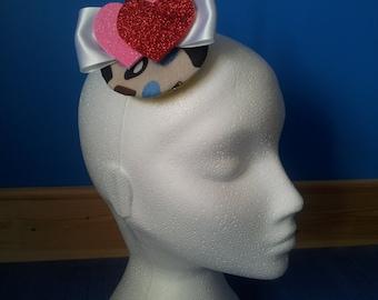 Rockabilly SWEET HEART- Fascinator/ hair clip