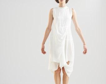 White Mini Dress - White Mini - Mini Dress - White Dress - Open Back Dress - Wedding Dress - Short Dress - Summer Dress