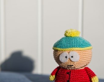 "Crochet Pattern of Eric Cartman from ""South Park"" (Amigurumi tutorial PDF file)"