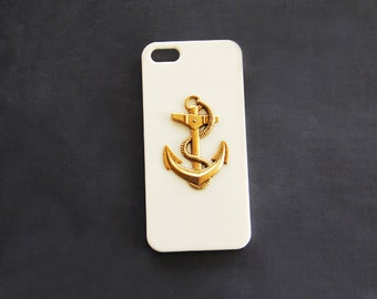 Anchor iPhone 6 Cases iPhone 5c Beige iPhone 5 Beige Gold iPhone 6 Plus Case uxury iPhone Cases Nautical iPhone 5 5c iPhone 6s S4 Nautical
