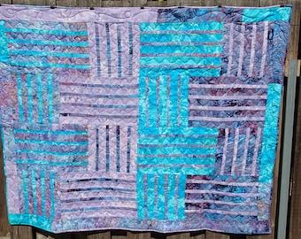 Batik basketweave quilt ON SALE!!