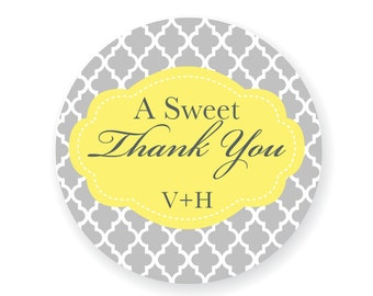 Custom Wedding Stickers A Sweet Thank You Candy Buffet Labels
