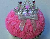 Dog Cupcake - Princess or Prince Style- Standard size (Serves 1-2)