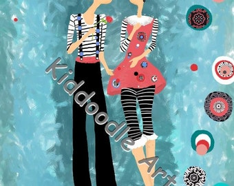 1357 Will You Be Mimes? Fun Mime Wall Art for a children's room or nursery