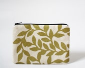 VINE - Mini Zip Pouch in Metallic Gold