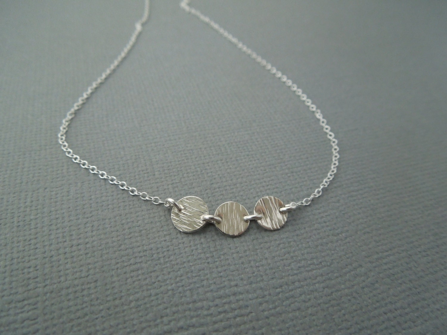 delicate sterling silver necklace simple silver necklace