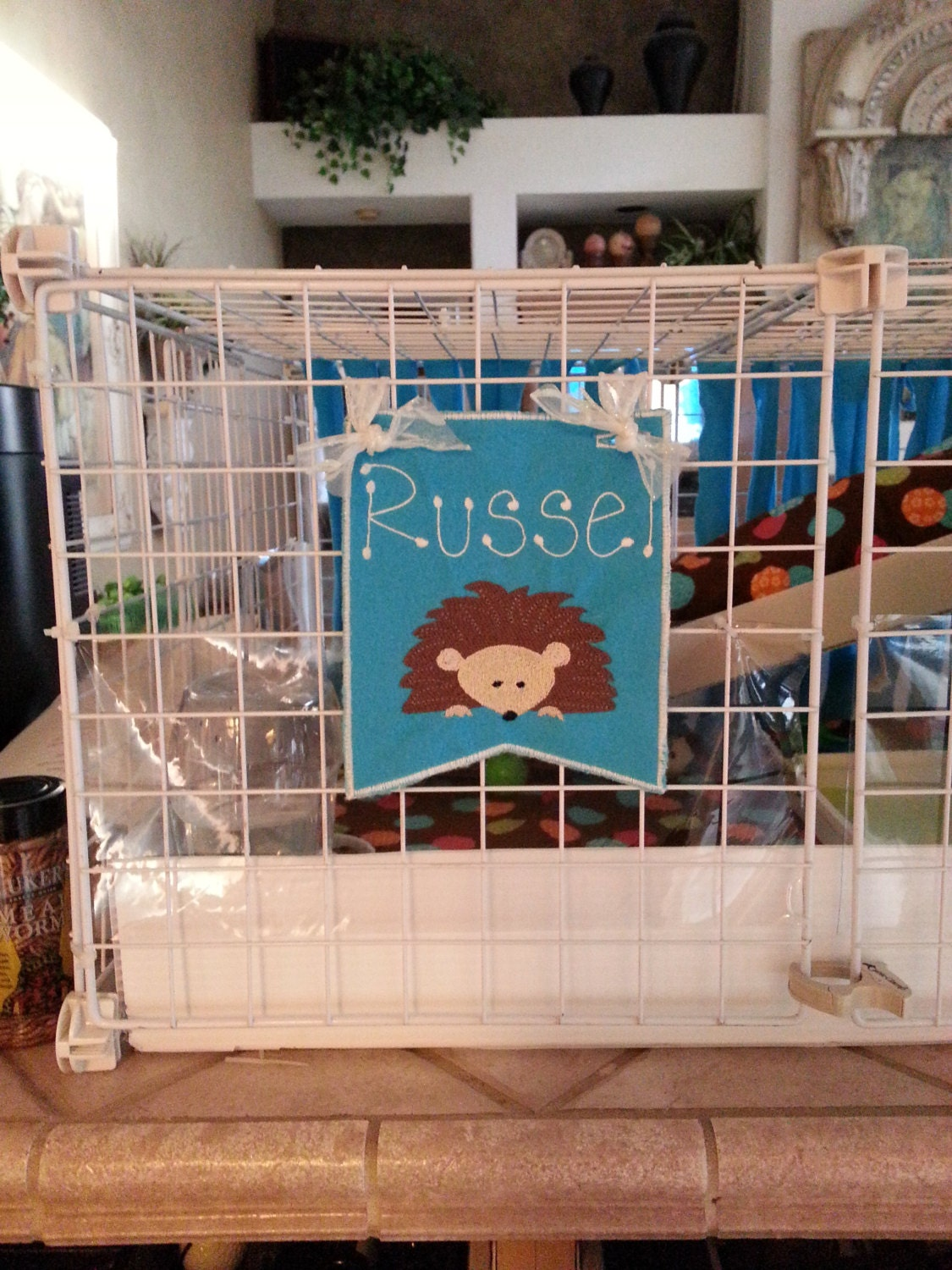 Hedgehog Banner For Cage Personalized By Susiesspot On Etsy