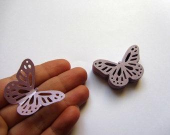 Paper butterflies 50 die cut butterflies, die cuts, wedding decorations, scrapbooking, weddings, purple butterflies mauve lilac butterflies