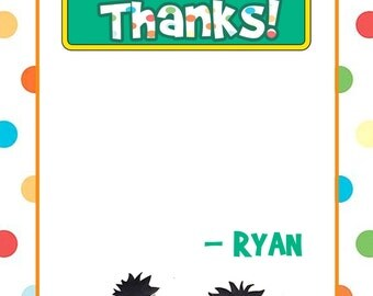 Sesame steet thank you notes, sesame street thank you, personalized note cards, diy print thank you