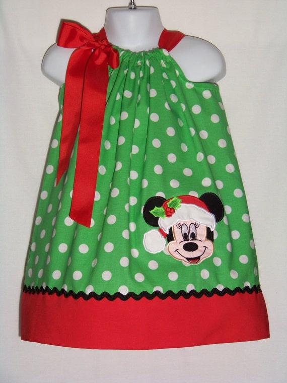 Minnie mouse santa pillowcase dress christmas disney minnie
