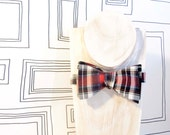 Traditional plaid cotton bow tie