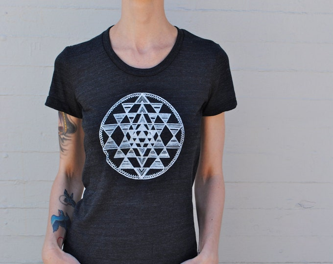 SRI YANTRA Sacred Geometry Ladies Tee