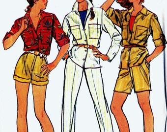 Sewing Pattern Butterick 3060 Jacket shirt safari style with pants and shorts Size 16 (uncut)