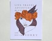 Live, Travel, Adventure, Bless || 8x10 Print