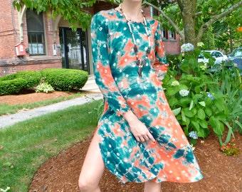 1970s Boho Tunic Dress Caftan Sheer Cotton  Breezy Summer Mini w Pompom Trim High Thigh Vents  Minidress India
