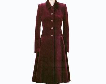 Vogue 7634 Claire Shaeffer COAT PATTERN COUTURE Fit & Flare Drop Waist Size 18 20 22 UNCuT Plus Size Misses Petite Womens Sewing Patterns