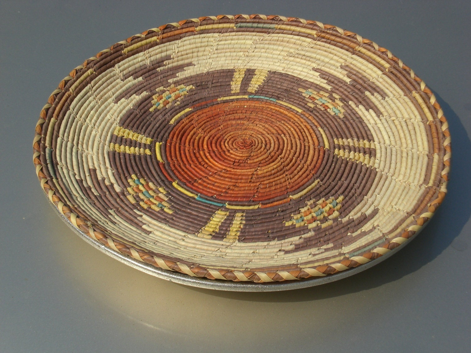Basket weaving native american : Native american basket tight weave antique by crownandswords
