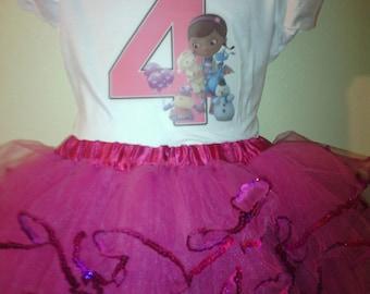 Doc McStuffins Dress 2 Pc Pink Tutu outfit 1T,2T,3T,4T,5T,6T,7T