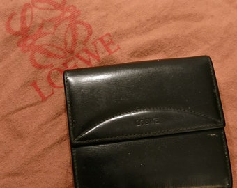 70s Black Leather Wallet by Loewe - Excellent Quality