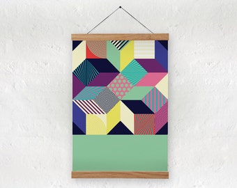 Abstract art print / geometric print / geometriv art / A4, A3, A2 size / home decor / abstract graphic pattern / inkjet print / colors