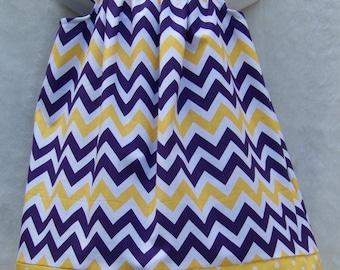LSU Chevron Dress / Purple & Gold / LSU Baby / LSU Tigers / Game Day / Newborn / Infant / Baby / Girl / Toddler / Custom Boutique Clothing