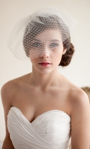 Double Layer Birdcage Veil, Blusher Veil, Tulle Veil, Wedding Veil, Mini Veil - Jane  MADE TO ORDER