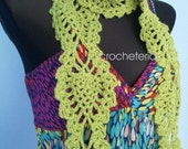 Instant download -  Pineapple - Year - round scarf - pattern
