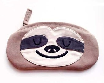 Zip Pouch - The Slothful One Pochette (Beige)