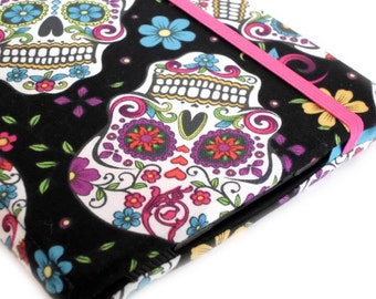 Kindle Cover - Folklorico Sugar Skulls - colorful hardcover eReader case, Kindle Voyage, Basic, Touch, Paperwhite, Kobo Touch Nook Glowlight