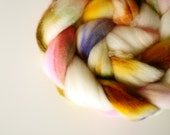 An Honest Prairie Life handpainted superwash BFL spinning fiber 4.0oz