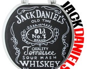 Jack Daniels Hand Painted Toilet Seat Whiskey Christmas Holiday Dad Gift by Debbie Is Adopted