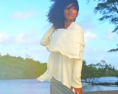 FALL SAMPLE SALE. The Super Cowl Top in organic hemp jersey. Ready to ship. Size medium in Natural.