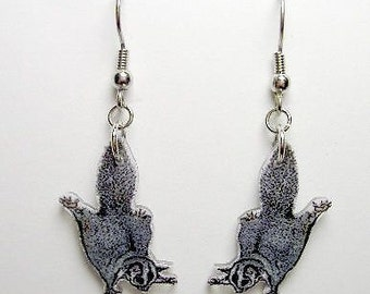 Handcrafted Plastic Sugarglider Earrings