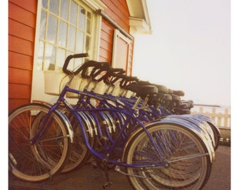 Polaroid Photograph - Bike Photograph - Bicycle - Summer -  Photography - Beside the Little Red House - Alicia Bock - Bike Art - Mackinac