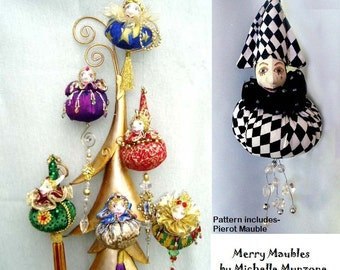 Pattern, E-Pattern, MERRY MAUBLES, Christmas Ornaments, Gift Ideas, Cloth Dolls, Christmas, Tutorial, DIY, bambole designs, Michelle Munzone