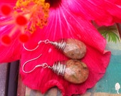 Autumn Jasper earrings for grounding and tranquility